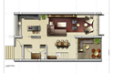 duplex apartment plan - elephant bay, angola