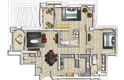 2 bedroom apartment plan - pearl viva bahriya - doha, qatar