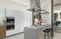 duplex apartment kitchen - elephant bay, angola