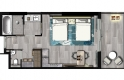 Twin Room Floor Plan - Yas