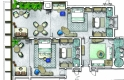standard family suite plan - seychelles beach resort, mahe